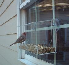 "Window Bird Feeder JCs Wildlife Lg Classic 13"" Acrylic holds 4 cup Free Shipping"