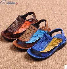 Купить товарЛетние детские сандалии мальчиков пляжная обувь 2015 детей летом высокое марка девушки кожаные бабочка пляжные мальчики сандалии 88b в категории Сандалиина AliExpress.