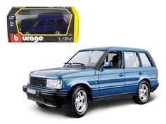 Land Rover Range Rover Blue 1/24 Diecast Car Model by Bburago - Brand new 1:24 scale diecast model car of Land Rover Range Rover Blue die cast car model by Bburago. Brand new box. Rubber tires. Has opening hood, doors and trunk. Made of diecast with some plastic parts. Detailed interior, exterior. Dimensions approximately L-8, W-3.5, H-3.5 inches. Please note that manufacturer may change packing box at anytime. Product will stay exactly the same.-Weight: 2. Height: 6. Width: 11. Box Weight…