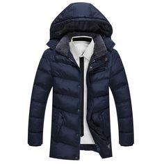 62.37$  Buy now - http://alijcv.worldwells.pw/go.php?t=32763070307 - 2016 New Arrival Brand Clothing Down Parka Men Fashion Quality Cotton Men Down Jacket Casual Winter Jacket Men Coat L-3XL