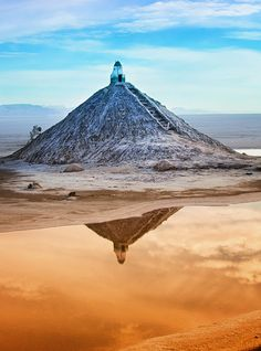Chott el Jerid in Tunisia is a large salt lake in southern Tunisia and the largest salt pan of the Sahara