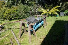 Inspired by the Kon-tiki cone kiln I looked a cheaper alternative that uses recycled materials and was suited to long fuel sections like bamboo to reduced the amount of cutting. Outdoor Furniture Sets, Outdoor Decor, Recycled Materials, Bamboo, Recycling, Inspired, Inspiration, Home Decor, Biblical Inspiration