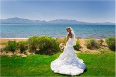 With stunning views of Lake Tahoe and the surrounding mountains, you can't beat Edgewood Tahoe for your South Lake Tahoe destination wedding! #destinationwedding #Tahoewedding www.tahoeweddingsites.com
