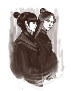 """Mai and Ursa by *witalicious on deviantART  """"I think they're in the garden watching Zuko teach his daughter how to feed turtle ducks."""" - witalicious"""
