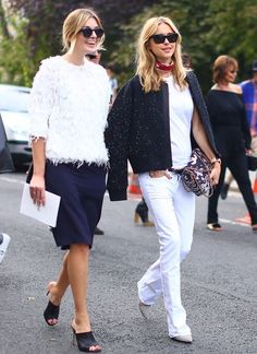 White & Navy | Color Coordinated Street Style | TheyAllHateUs