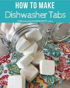 GOING TO TRY THIS NEXT easy-to-make homemade natural dishwasher detergent tabs and they REALLY WORK! Cleans stuck-on food, gets silverware shiny, & glasses sparkling! DIY essential oil recipe for dishwasher detergent tabs Homemade Cleaning Products, Cleaning Recipes, House Cleaning Tips, Natural Cleaning Products, Cleaning Hacks, Diy Hacks, Natural Products, Household Products, Green Cleaning