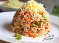 Rizoto ryze české Slovak Recipes, Czech Recipes, Ethnic Recipes, No Salt Recipes, Cooking Recipes, Salty Foods, Risotto Recipes, Food 52, Fried Rice