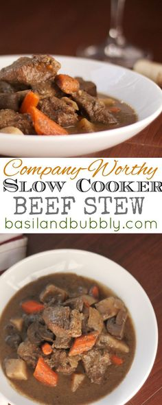 ... and the sauce is thick in this company-worthy slow cooker beef stew