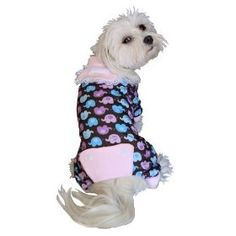 Anit Accessories Elephant Print Dog Pajama Apparel, X-Small 8-inches $7.44