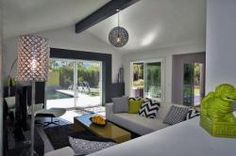 Palm Springs Vacation Rentals. H-Palm Springs Casual Glamour. Great view of living room looking to the pool.