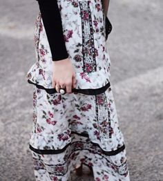 Vimala Maxi Skirt at Miss Tara Belle's Store | Lookave - #skirt #maxi #maxiskirt #flowers #floral #floralskirt #ootd #onlineshopping #lookave #onlineshopping #streetstyle #style #fashion #outfit @misstarabelle