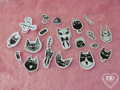 Witchy Kittens Stickers by lOll3SHOP on Etsy