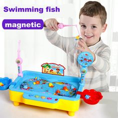 Magnetic Toy Fishing Musical Plastic Fish Board Games