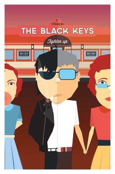 Black Keys - Tighten Up by Kenji Enos - Graphic Design Music Poster #kenjienos