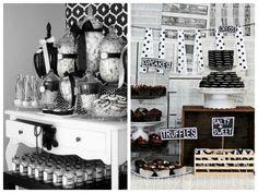 Mesa de doces para a festa preto e branco - Fotos: Pinterest