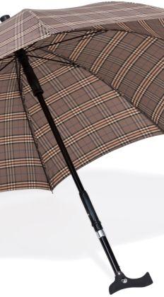 Parapluwandelstok bruin ruiten  Er is niks vervelenders als over straat lopen als het plotseling begint te regenen. Al helemaal als u loopt met een wandelstok. U heeft op dit moment twee keuzes of u zoekt snel een plek waar u kunt schuilen en loopt het risico in alle haast om te vallen of uzelf te bezeren of u trekt gemakkelijk uw paraplu van uw wandelstok. Het enige wat u hiervoor nodig heeft is de parapluwandelstok van StelComfortshop.nl. Met de parapluwandelstok van StelComfortshop heeft…