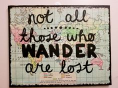 Map & Quote 8x10 canvas by annielayer on Etsy, $18.00