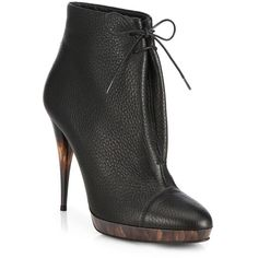 Burberry Prorsum Leather Ankle Boots (€715) found on Polyvore