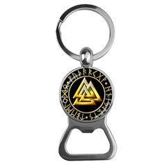 Throw back a cold one at any time of day with a custom bottle opener that easily fits into your wallet. Made with stainless steel, this opener can withstand the test of time. Viking Jewelry is perfect gift for your groomsmen! Viking Symbols, Viking Runes, Key Chain Holder, Triangle Pattern, Viking Jewelry, Glass Domes, Groomsmen, Bottle Opener, Vikings