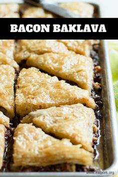 This Bacon Baklava is TO DIE FOR! #yum #recipe #dessert #snack