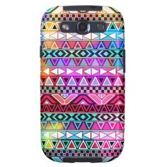 Pink Purple Bright Andes Abstract Aztec Pattern Samsung Galaxy S3 Covers