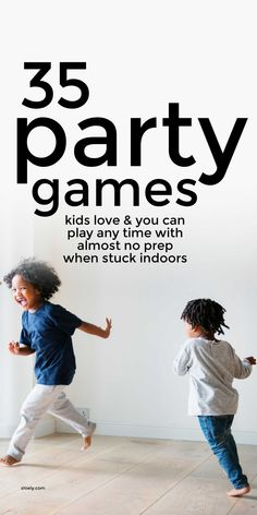 Classic party games that kids love and you can play anytime with almost no prep when stuck indoors. These fun party games are brilliant for birthday and family parties but also great for rainy days at home and school. #classicpartygames #kidspartygames #partygames #kidsgames Rainy Day Activities For Kids, Gross Motor Activities, Infant Activities, Games For Kids, Childrens Party Games, Fun Party Games, Birthday Party Games, Party Ideas, Family Game Night