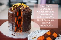 Lucy and The Runaways: A Chocolate & Orange Checkerboard Cake Recipe