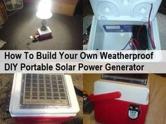 First I should clarify – there are solar panels, solar chargers and solar generators. We have featured several tutorials showing how to build cheap solar chargers. These are simple to build as they are basically just a solar panel that produces electricity and charges when the sun is out, but when the sun goes in, … Portable Solar Power, Solar Energy System, Portable Solar Panels, Solar Energy Panels, Best Solar Panels, Solar Roof, Solar Projects, Energy Projects, Solar Panel Installation
