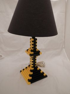 Two Color LEGO(R) Table Lamp Black And Yellow Sports