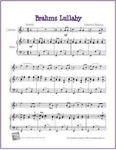 Brahms Lullaby | Free Sheet Music for Clarinet - http://makingmusicfun.net/htm/f_printit_free_printable_sheet_music/brahms-lullaby-clarinet.htm