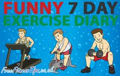 Funny 7 Day Exercise Diary