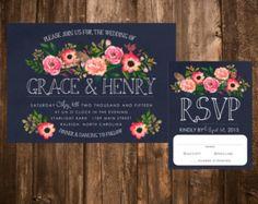 Spring Bohemian Wedding Invitation Set: Light by papernpeonies