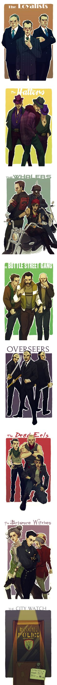 Dishonored AU: Modern-Day Gangs of Dunwall by MadLittleClown.deviantart.com on @deviantART