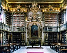 Beautiful Libraries...Library of University of Coimbra, Coimbra, Portugal, photo by Guillaume de Laubier.