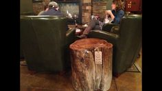Red Elm Log Coffee Table at Coffea