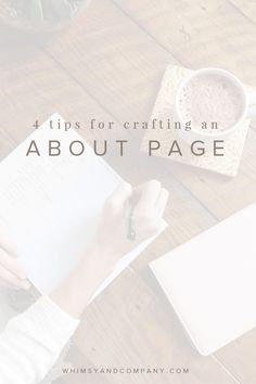 Your About page is such a powerful tool for your blog, but it's often forgotten. Here are my 4 tips to make writing your About page less daunting.