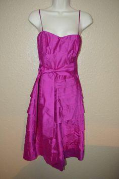 NWT $325 Sz 2/S Calypso Christiane Celle Magenta Blue Spagetti Strap Dress #CalypsoStBarth #Formal