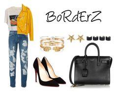 """BoRdErZ"" by anaelle2 ❤ liked on Polyvore featuring Prada, Philipp Plein, Zara, Yves Saint Laurent, Christian Louboutin, Alexander McQueen, Maison Margiela, Cartier, mizuki and Marc Jacobs"
