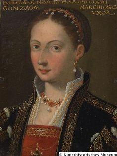 Porzia, Gemahlin von Massimiliano, Sohn d. Alessandro Gonzaga und Ippolita Sforza, Tochter d. Gianluigi Gonzaga v. Novellara