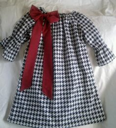 Hey, I found this really awesome Etsy listing at https://www.etsy.com/listing/158260620/alabama-houndstooth-peasant-dress