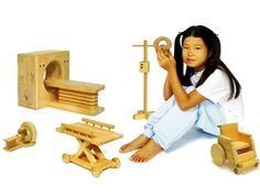 """""""Wooden Toys Designed To Ease Hospital Fears."""" Great for potential symbolic play or psycho-education."""