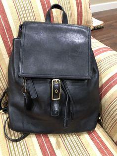 "d5c449e7896f COACH BLACK LEGACY BACKPACK MEDIUM 10""LX5""WX11""H  Coach  Backpack"