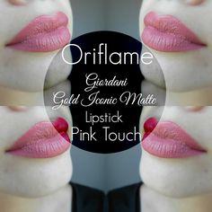 Oriflame - Giordani Gold Iconic Matte Lipstick - Pink Touch   matte Oriflame ruž