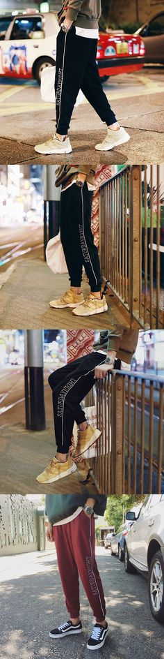 2017 Winter New Men Products Japanese Style Printed Loose Causal Sweatpants Fashion Pants Good Fabrics Thick All-Match Trousers