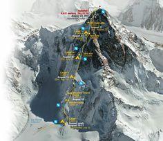 K2, Une montagne de 8611 mètres d'altitude ! A peine plus petit que l'Everest mais autrement plus costaud ! Pourquoi ce nom ?...Suite: http://summit-day.com/k2/ © Summit-day / Photo: © Ngm-National geographic - Groupe privé: SKI ENSEMBLE communauté