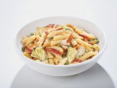Penne San Remo (Inspired by Buca Di Beppo) from Food.com: Delicious dish served at Buca Di Beppo. Tender chicken breast, artichoke hearts, sun-dried tomatoes and green peas tossed with imported Italian penne pasta in a white wine cream sauce.