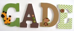 Monkey Custom Wooden Letters Personalized Nursery by LetterLuxe