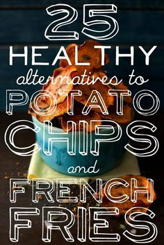 """25 Baked Alternatives To Potato Chips And French Fries. Mostly veggie chips or fries, but with some new twists. Got a little liberal on """"healthy"""" with the cheesy bacon chips, IMHO. Healthy Cooking, Healthy Snacks, Healthy Eating, Healthy Recipes, Dessert Healthy, Healthy Pizza, Burger Bar, Lunch Snacks, Do It Yourself Food"""