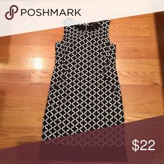 White House Black Market Dress Super cute pattern and shape with pockets White House Black Market Dresses