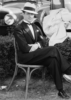 "wehadfacesthen: "" Robert Montgomery taking a break on the set of The Divorcee, 1930 """